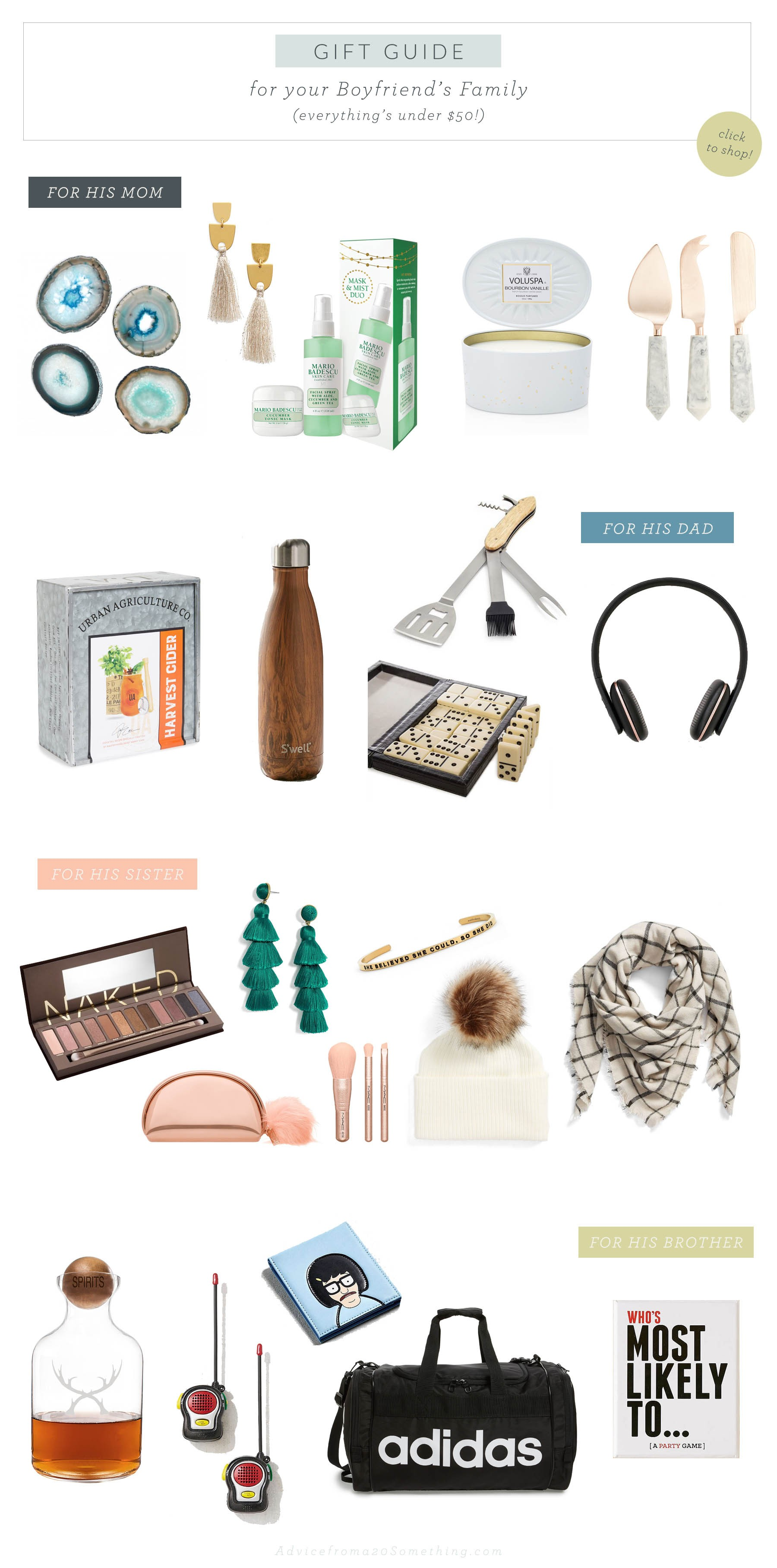 Gift Guide: For the Boyfriend\'s Family