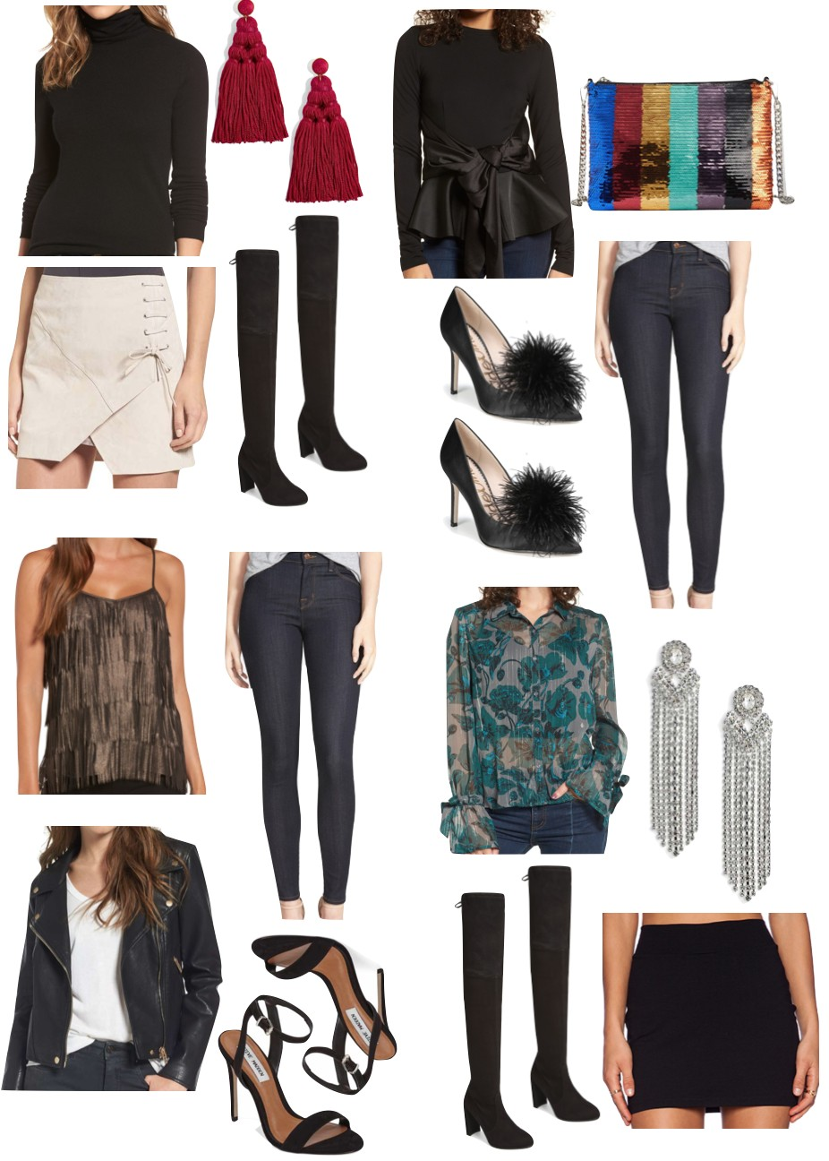 48dddf72b985a Click on image above to shop 4 dressy casual holiday looks. Below I'm  showing 4 of the always classic little black dress (lbd)