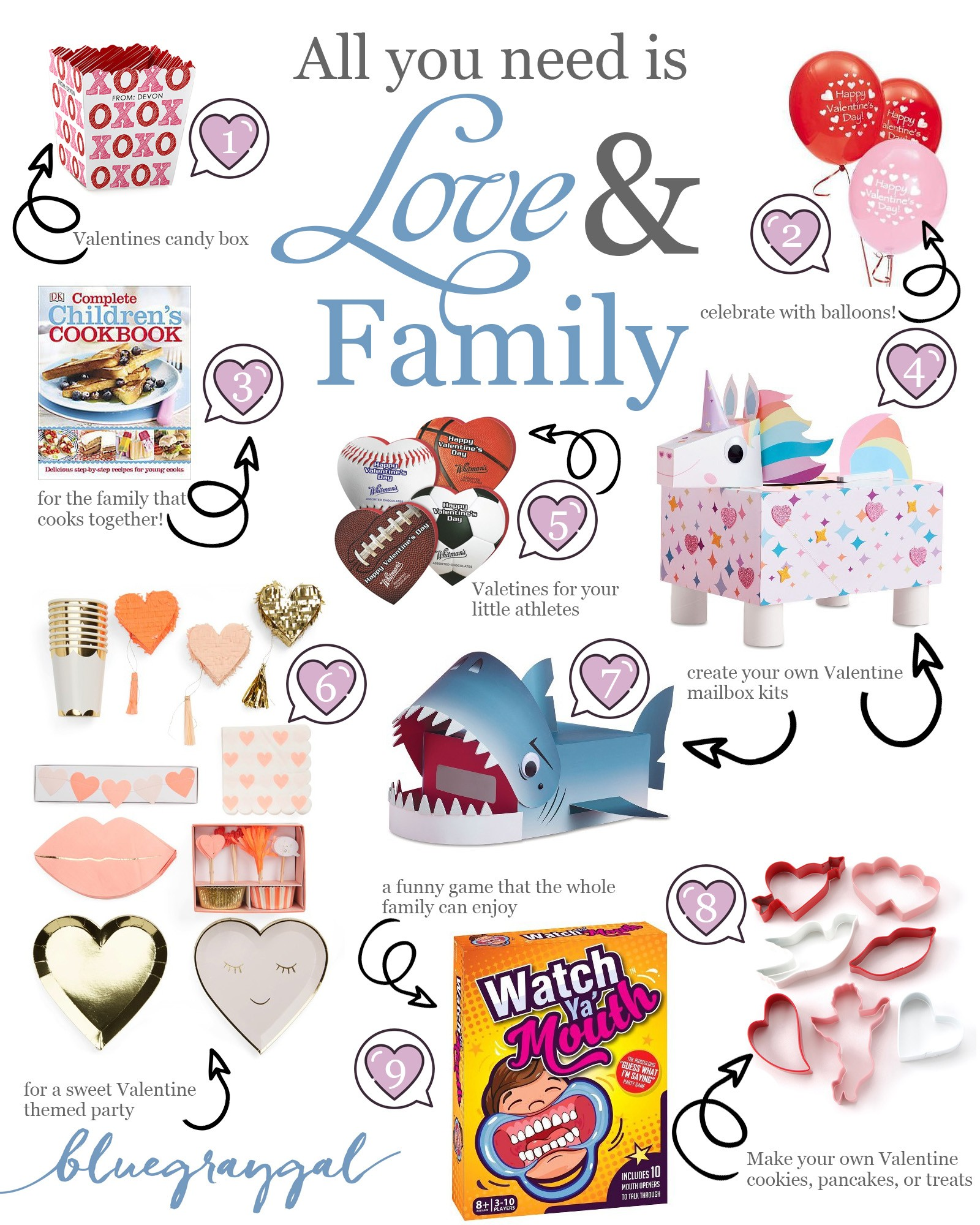9 top valentines kids ideas for whole family! | bluegraygal