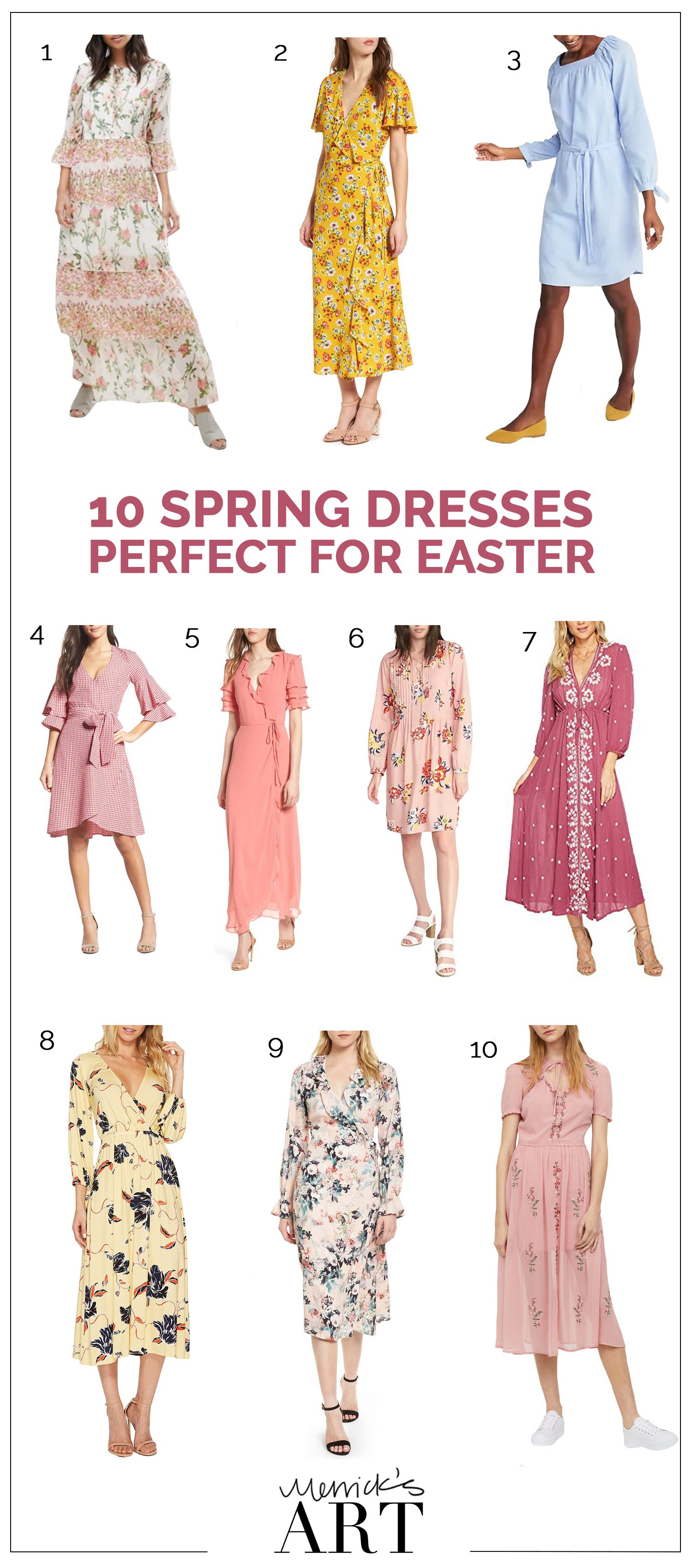 fc87ee0cac8d22 10 Spring Dresses that are Perfect for Easter Weekend | Merrick's ...