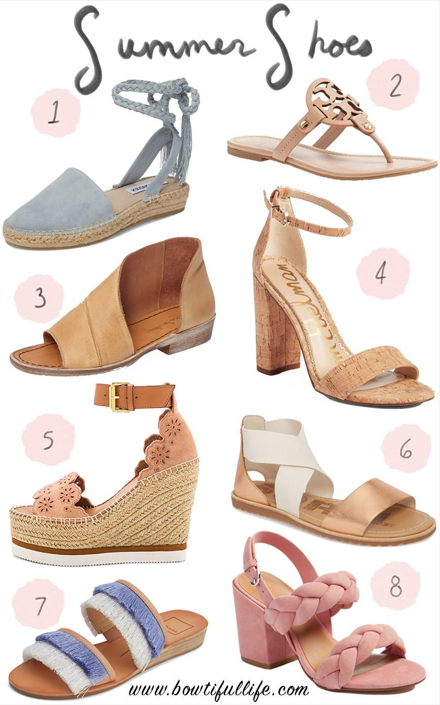 ... to slip on a pair of cute new sandals and go get a pedicure. These are  just a few of my current favorite spring and summer shoes that are out  there!