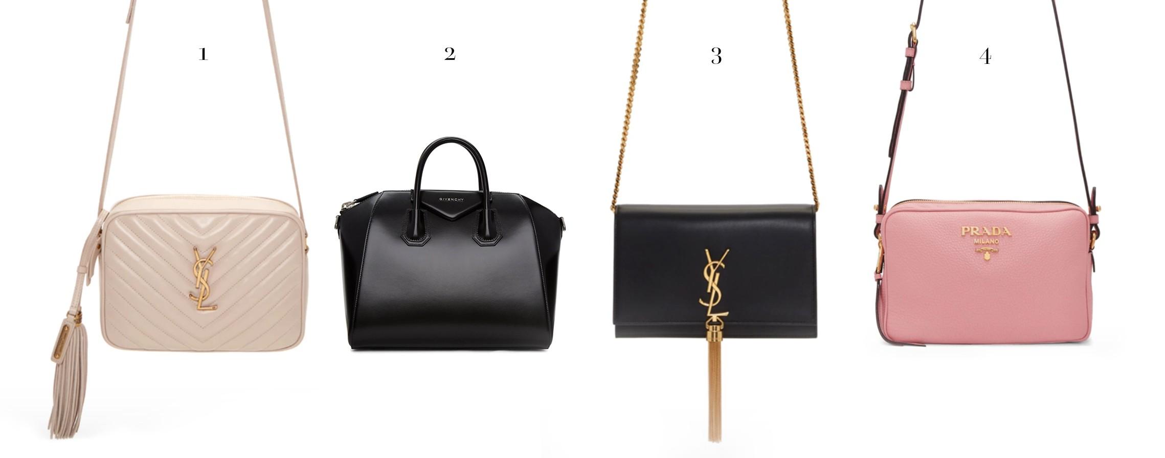 1c335bfadc451c Saint Laurent Lou Camera Bag // 2. Givenchy Antigona // 3. Saint Laurent  Kate Tassel Bag // 4. Prada Pink Crossbody