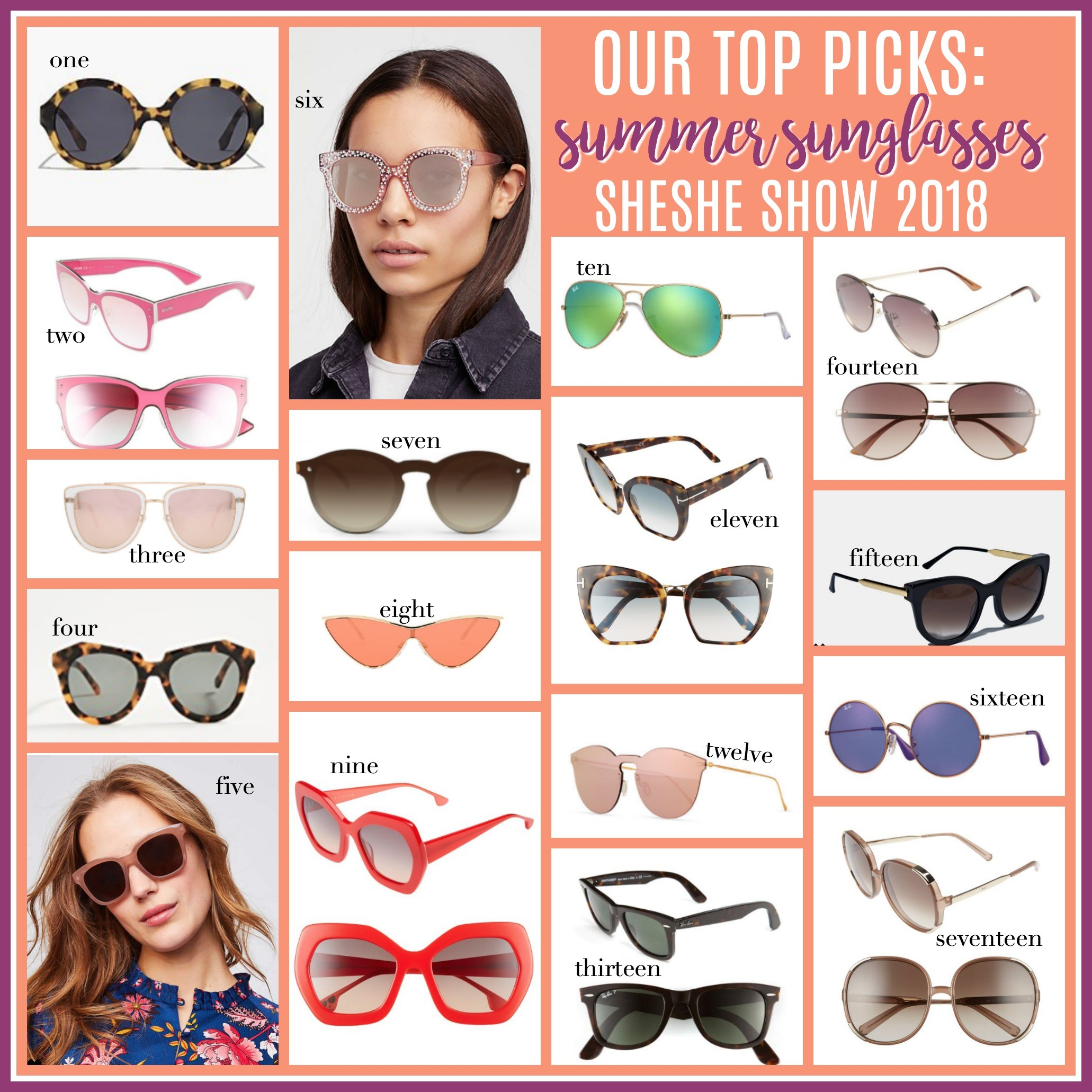 5a8e7f5b80 Let us know which pair of sunglasses is your favorite