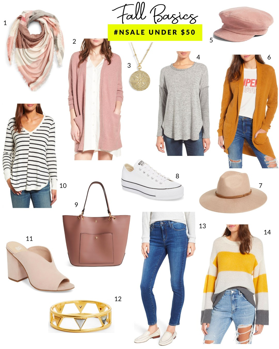 f3721d304ef Cocoon Sweater // 7. hat // 8. platform Converse // 9. Sole Society Tote //  10. High-Low V-neck Sweater // 11. Open Toe Mule // 12. Madewell bracelet