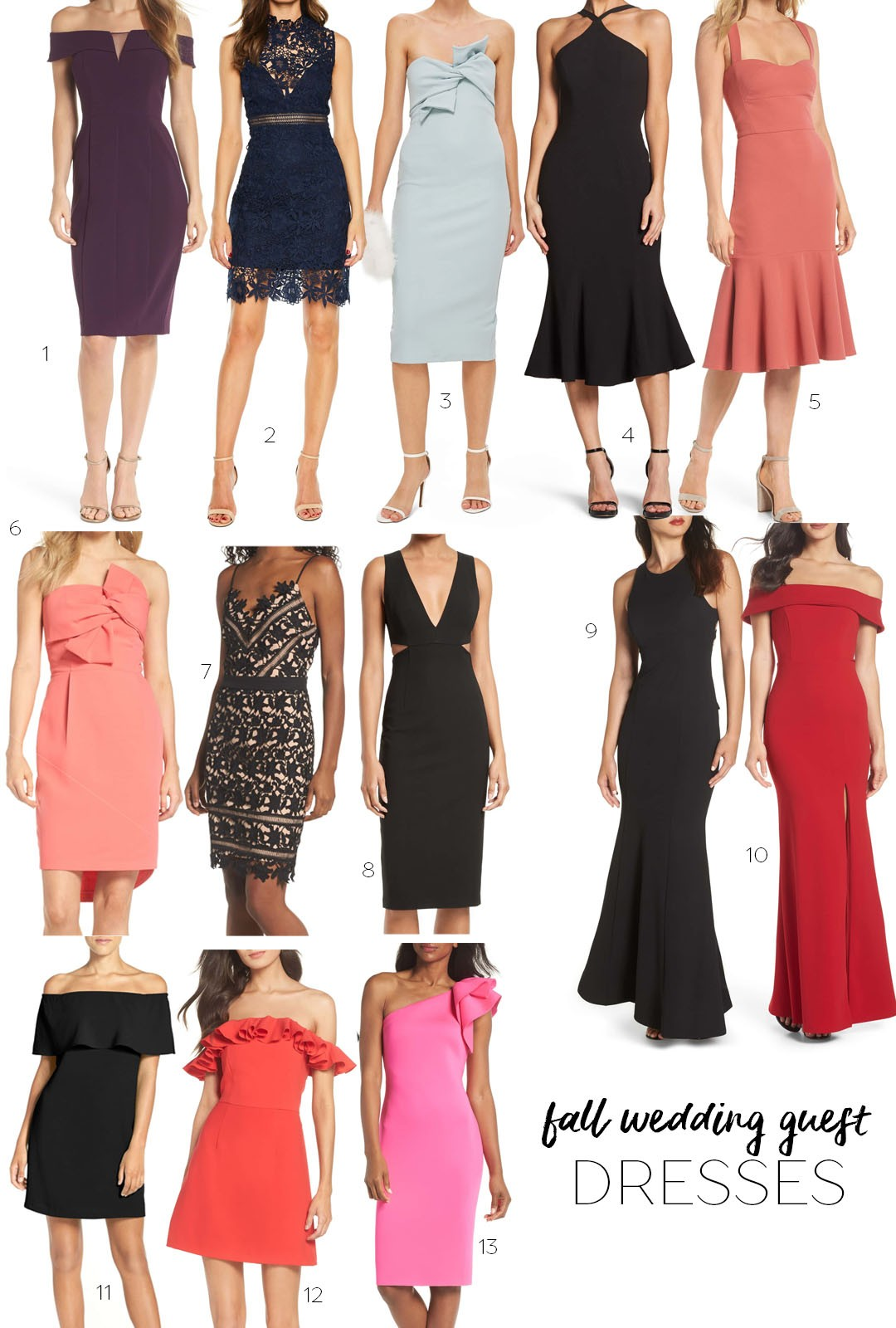 Fall Wedding Guest Dresses - A Double Dose
