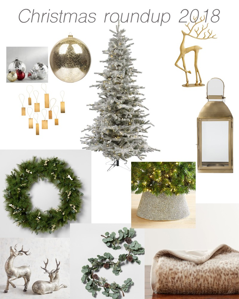 Neutral Green and Gold Christmas Decor 2018 - Style House Interiors