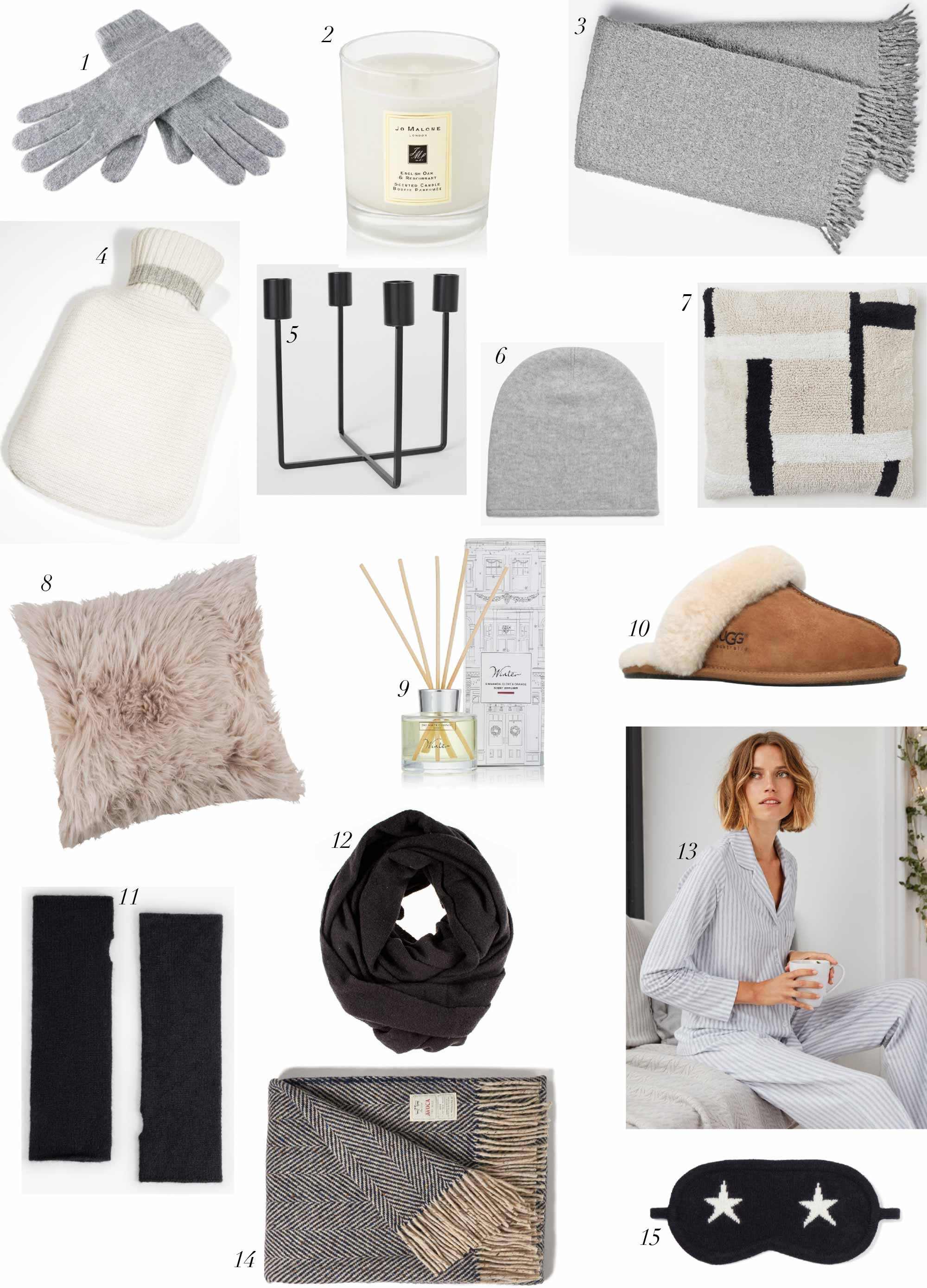 holiday gift guide warm and cosy the online stylist