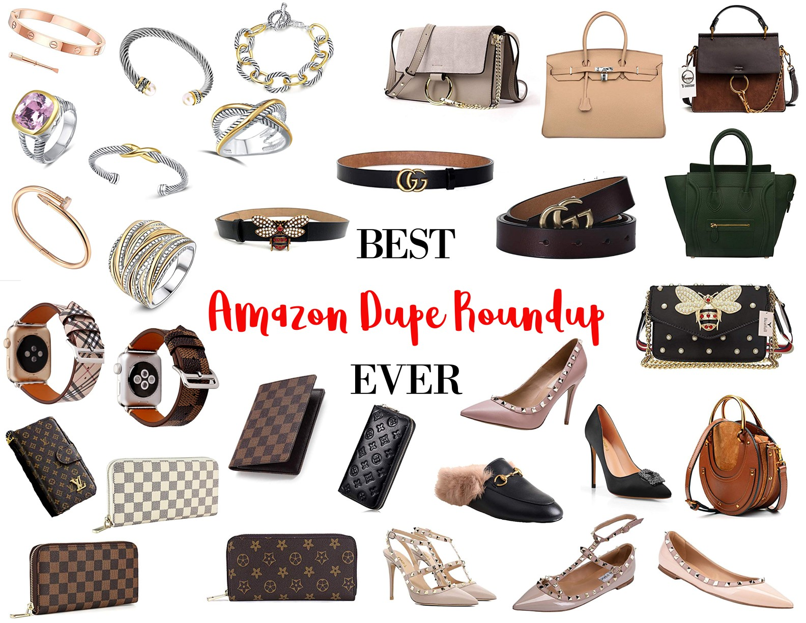 d319a7ed942c It's been awhile since I did an Amazon Dupes post. So today, I thought I'd  share the BEST Amazon Dupe Roundup Ever!! Just hover over the items in the  ...