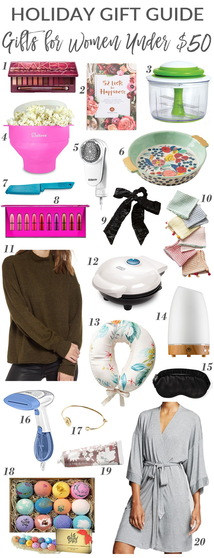 The Best Gifts for Her Under $50 | Gift Guides | For the Love