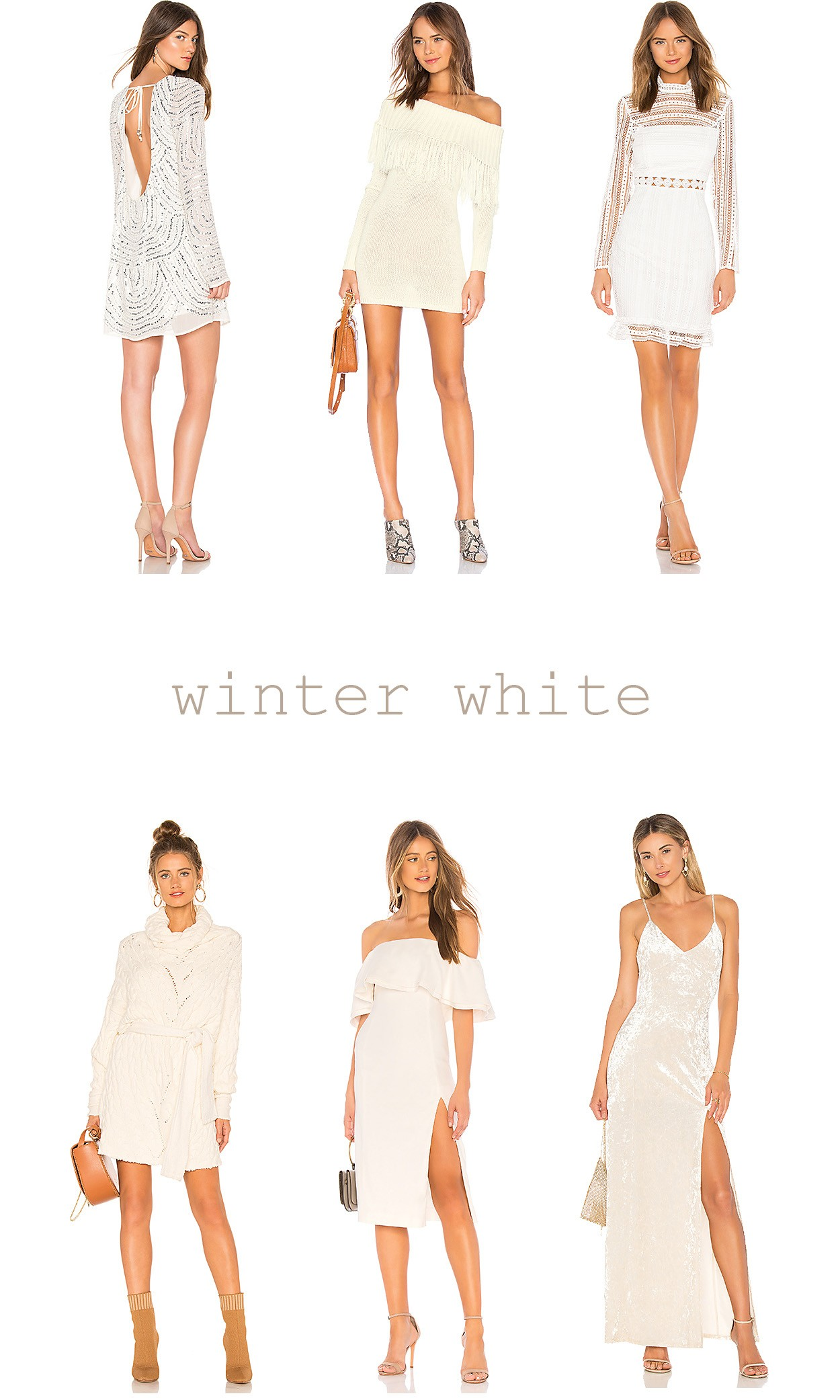 29091b5cf Winter is one of my favorite seasons to rock a snowy white dress, and I've  linked my favorites below.