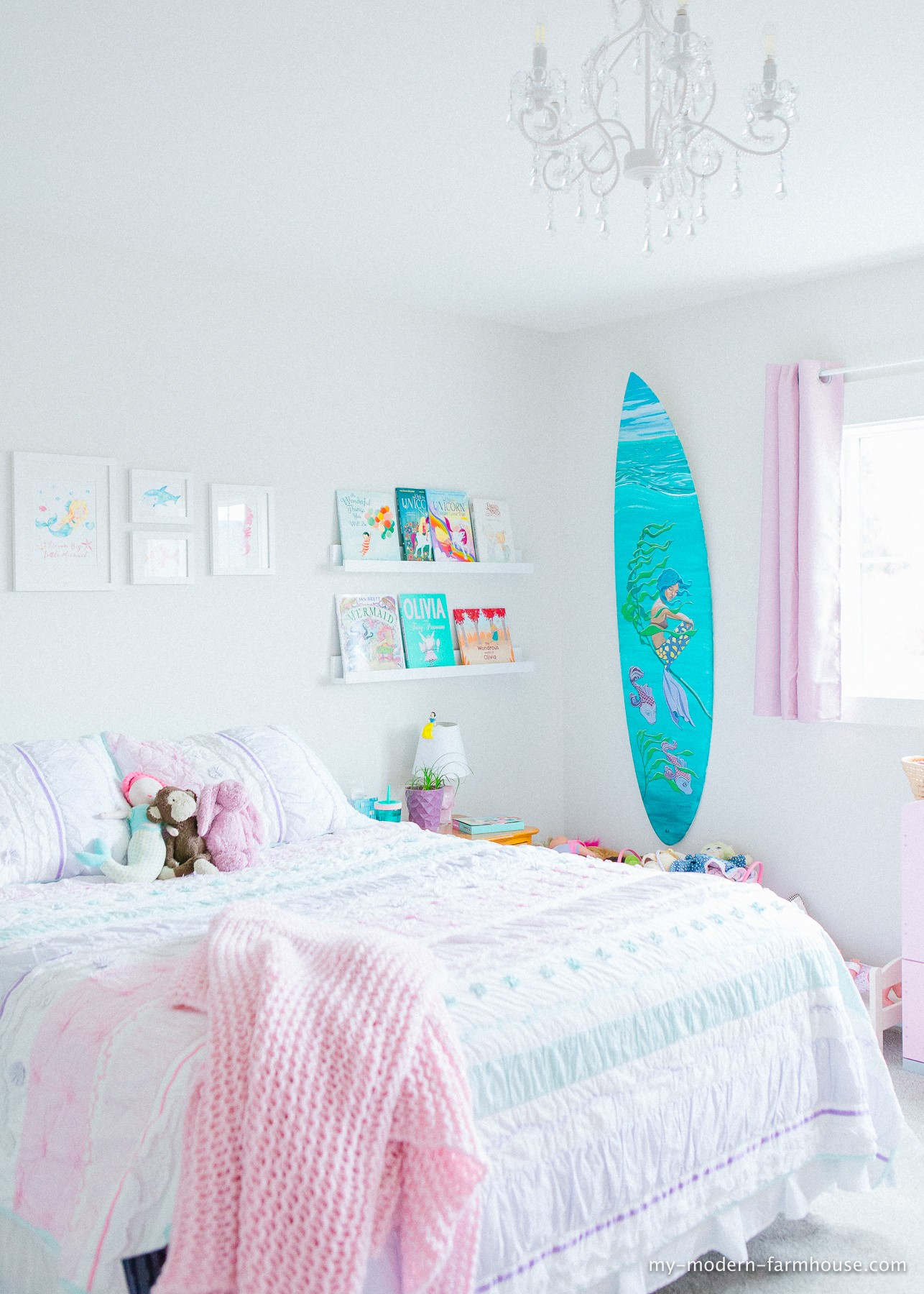 Awesome Mermaid Themed Little Girls Bedroom My Modern Farmhouse Machost Co Dining Chair Design Ideas Machostcouk