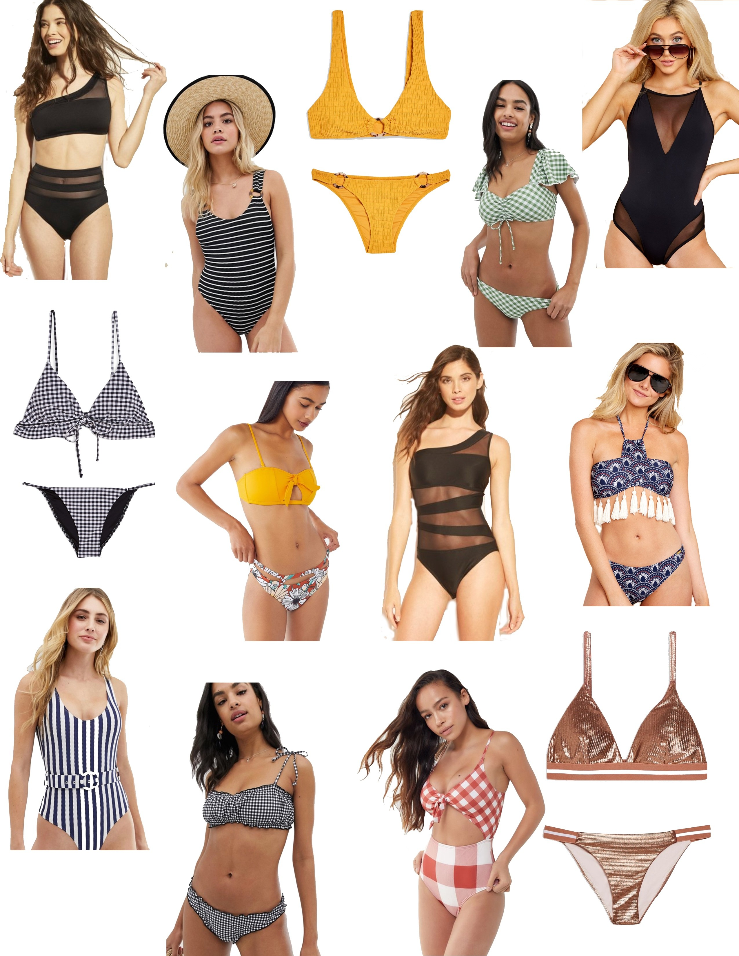 9d2c9895682 From the swimsuits pictured above, the only one I own is the black mesh one  shoulder one piece. I purchased a small and I can't wait to wear this  during my ...