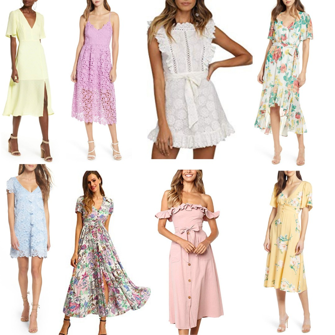7a78e3451 Easter is exactly one month away! If you are in need of a dress for Easter,  I got you covered. Today I am sharing 40 Easter Dresses that are all ...