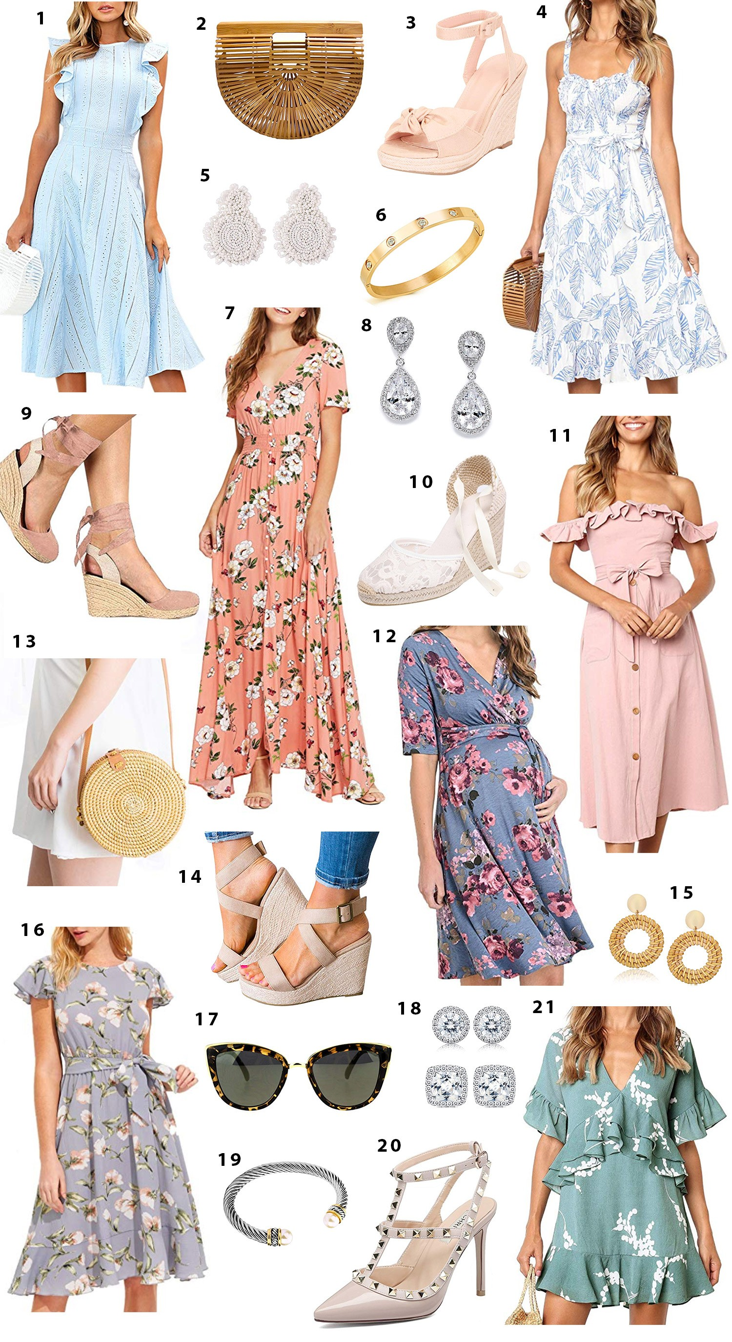 32d7c718fe801 Feminine Spring Amazon Fashion Finds Under  50. 1. Ruffled Sleeve Sleeveless  Dress ...