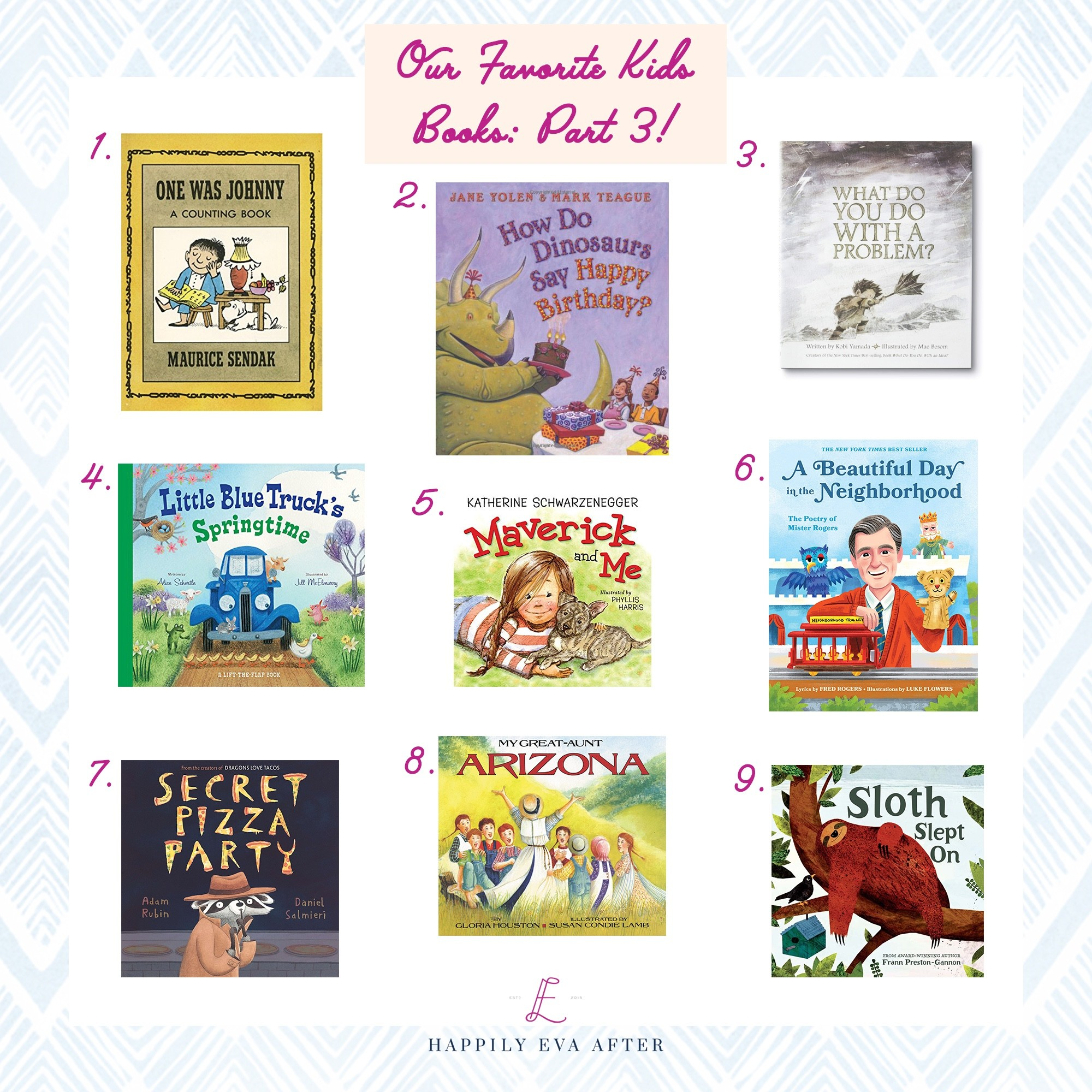 Our Favorite Kids' Books: Part 3 - Happily Eva After