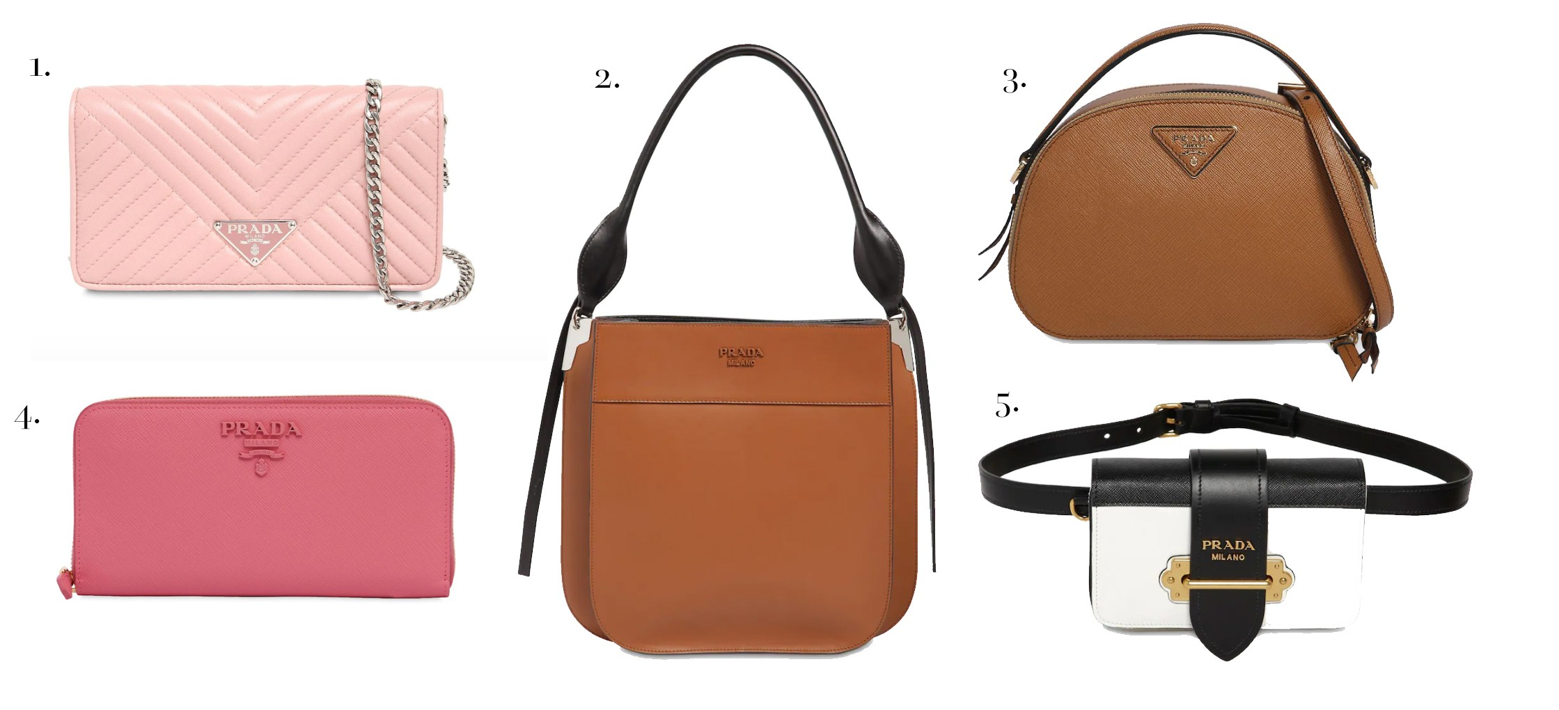 f7f955d2db4613 ... for me are the Prada Double Bag (incredible at 40% off!), the Prada  Saffiano Pink Top Handle and pretty much the entire Tory Burch line that  they stock.