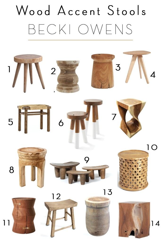 Remarkable Wood Accent Stool Roundupbecki Owens Caraccident5 Cool Chair Designs And Ideas Caraccident5Info