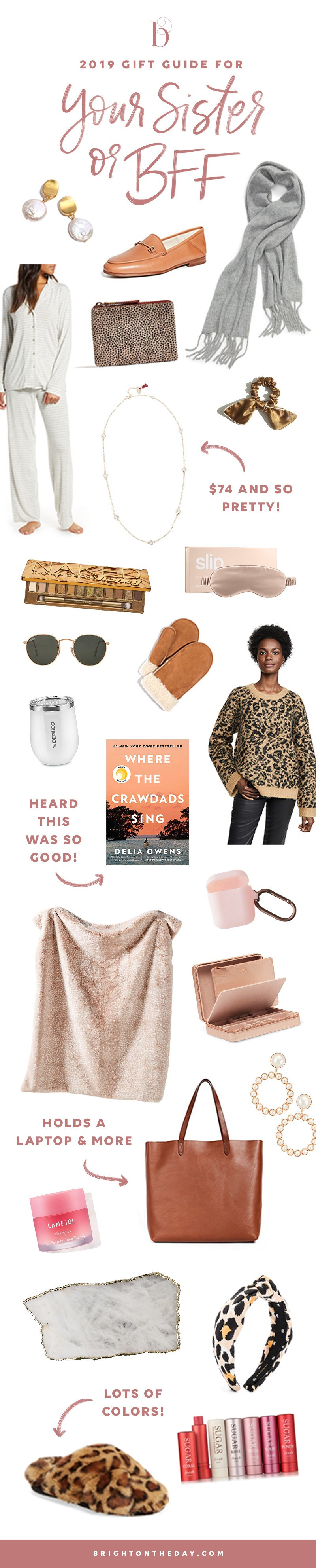 2019 Gift Guide For Your Sister Or Bff Brightontheday