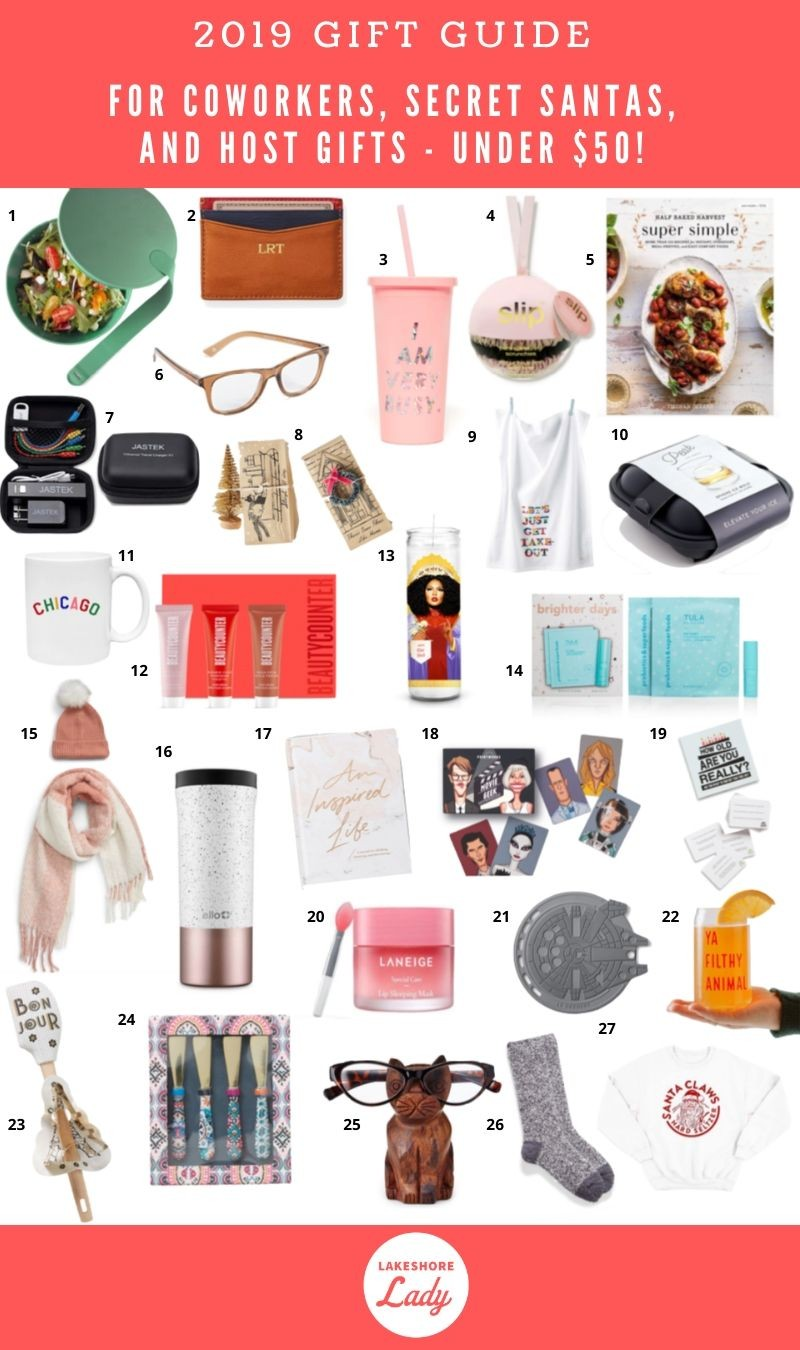 Easy Christmas Gifts For Coworkers Secret Santa And Hosts Under 50
