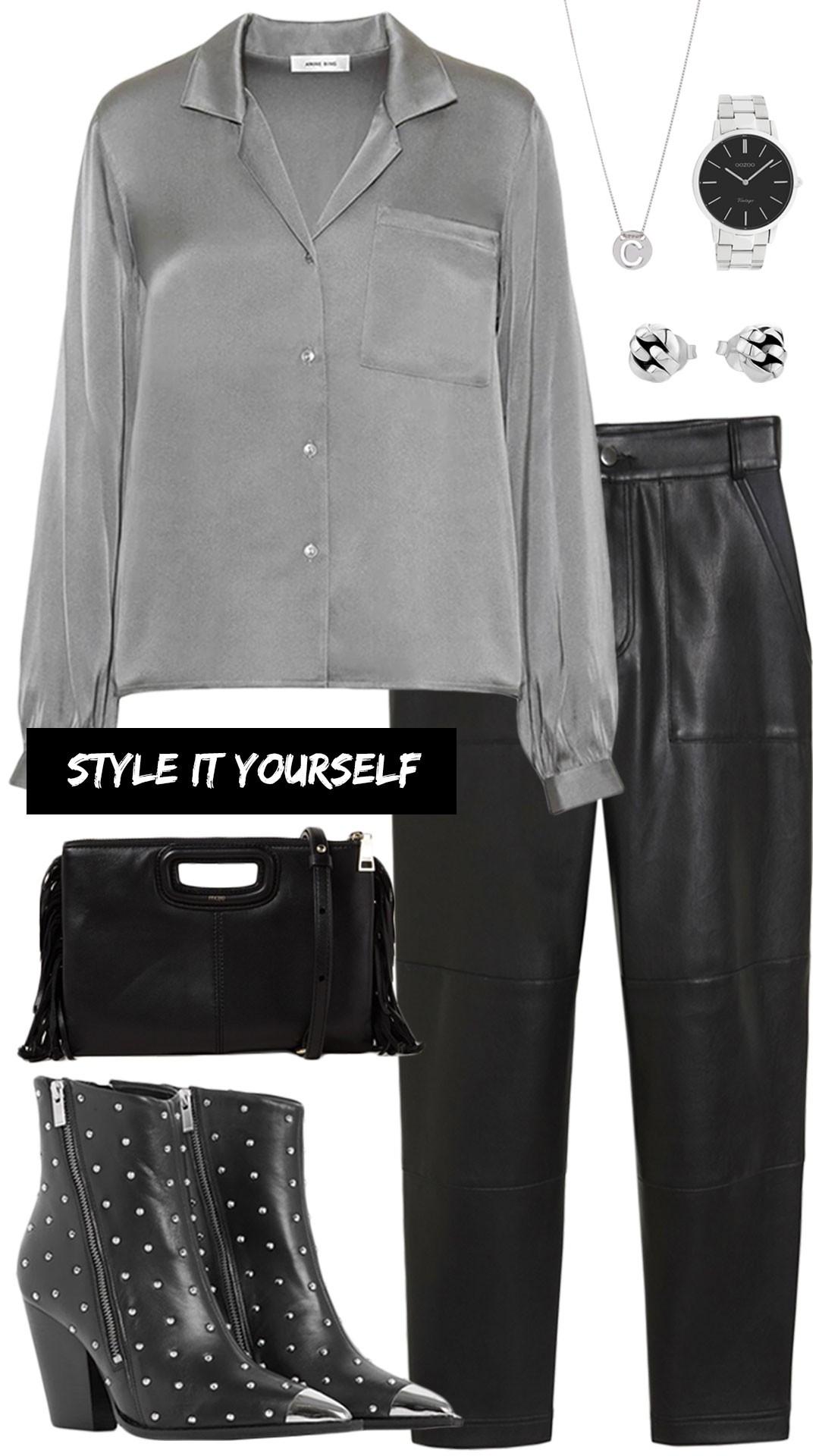 Style It Yourself Leren broek MonStyle