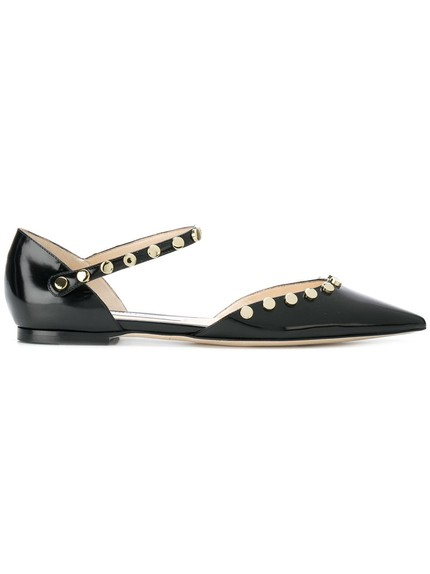 0e32ab84c70 Miu Miu patent leather point toe flats