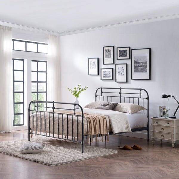 Im Leaning Toward The Wood Upholstered Panel Bed Shes A Beaut