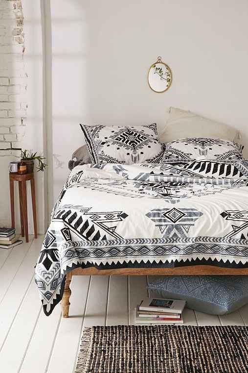 Modern Bohemian Bedroom Throw Pillows