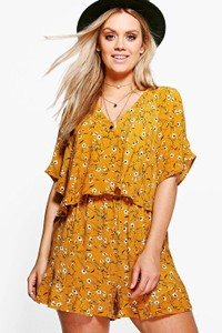 d87f0508e583 How to Transition From Spring To Summer  Mustard Romper Outfit - SUPPLECHIC