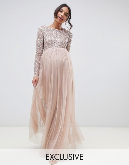 212a98d1b4a I also found the most exquisitely stunning beaded maxi dress for my  maternity photos from ASOS