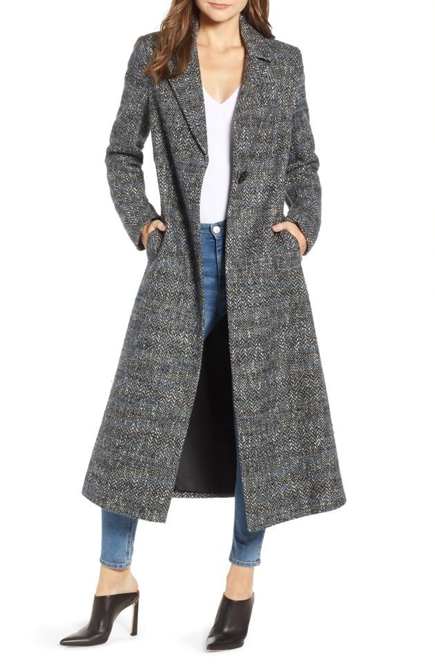 53065b16aae1 Sam Edelman Tweed Reefer Maxi Coat - 40% off!