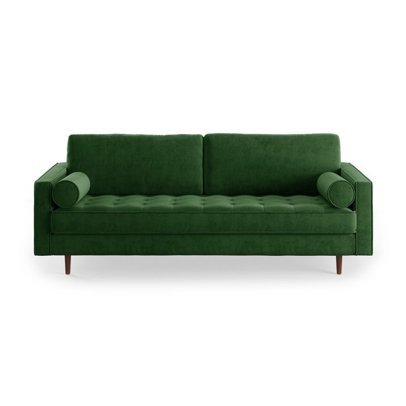 Stupendous 30 Lush Green Velvet Sofas In Cozy Living Rooms Onthecornerstone Fun Painted Chair Ideas Images Onthecornerstoneorg