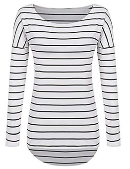 9aa761b4f5582f More fitted striped tunic length with great reviews!