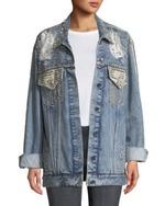 39aaa6f2 Big Blonde Hair. Bethenny Frankel's Crystal Embellished Denim · Sold Out  Topshop Denim Jacket