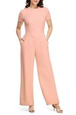 13a2791df OUTFIT DETAILS. Pink Dressy Jumpsuit with Pearl Trim (wearing ...