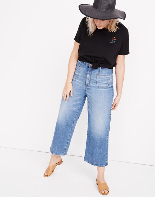 How to Wear Plus Size Wide Leg Cropped Jeans - Alexa Webb