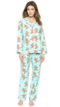pj luxe pj salvage gingerbread man pjs 6400