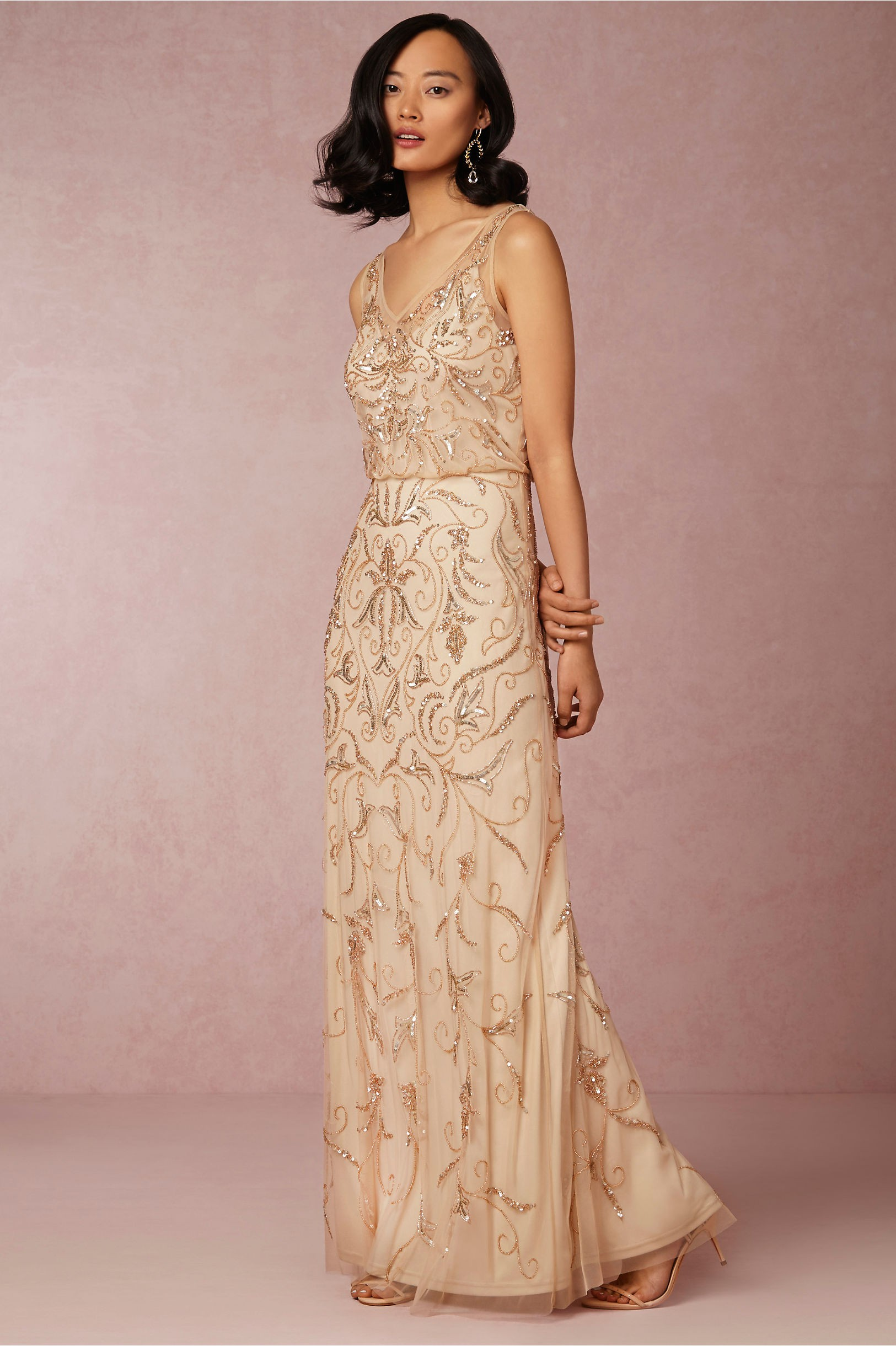 Sequined bridesmaid dress bhldn ombrellifo Images