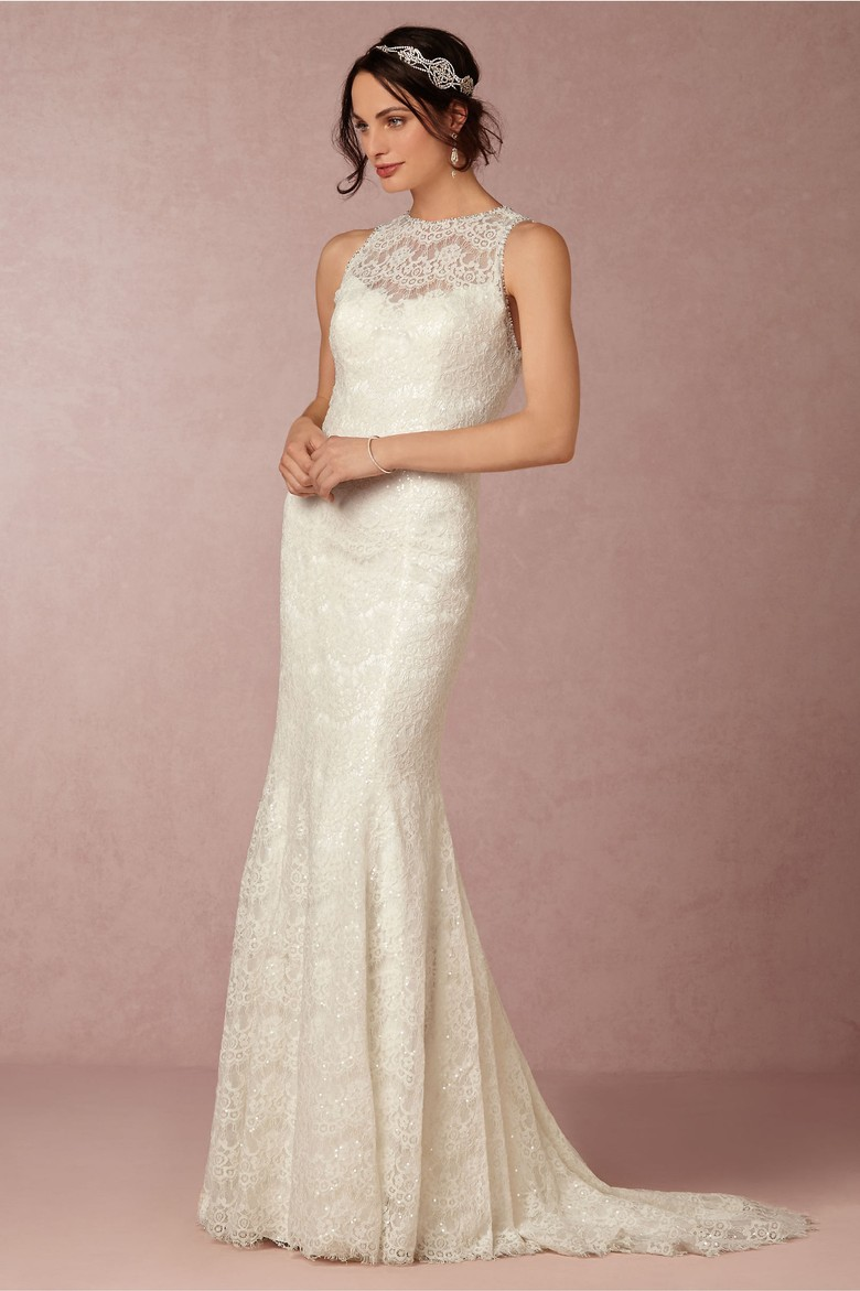 A Sparkling Sequin Wedding Gown