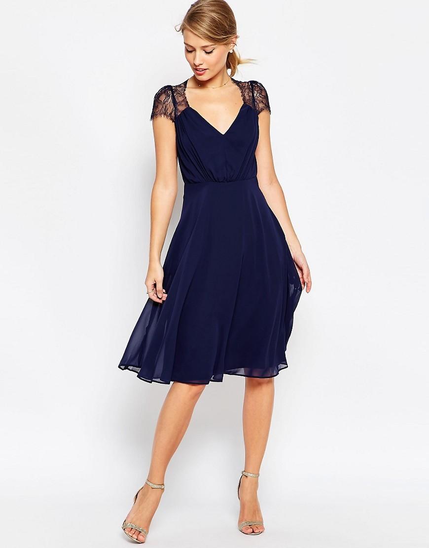 dark blue bridesmaid dresses navy wedding dress Asos