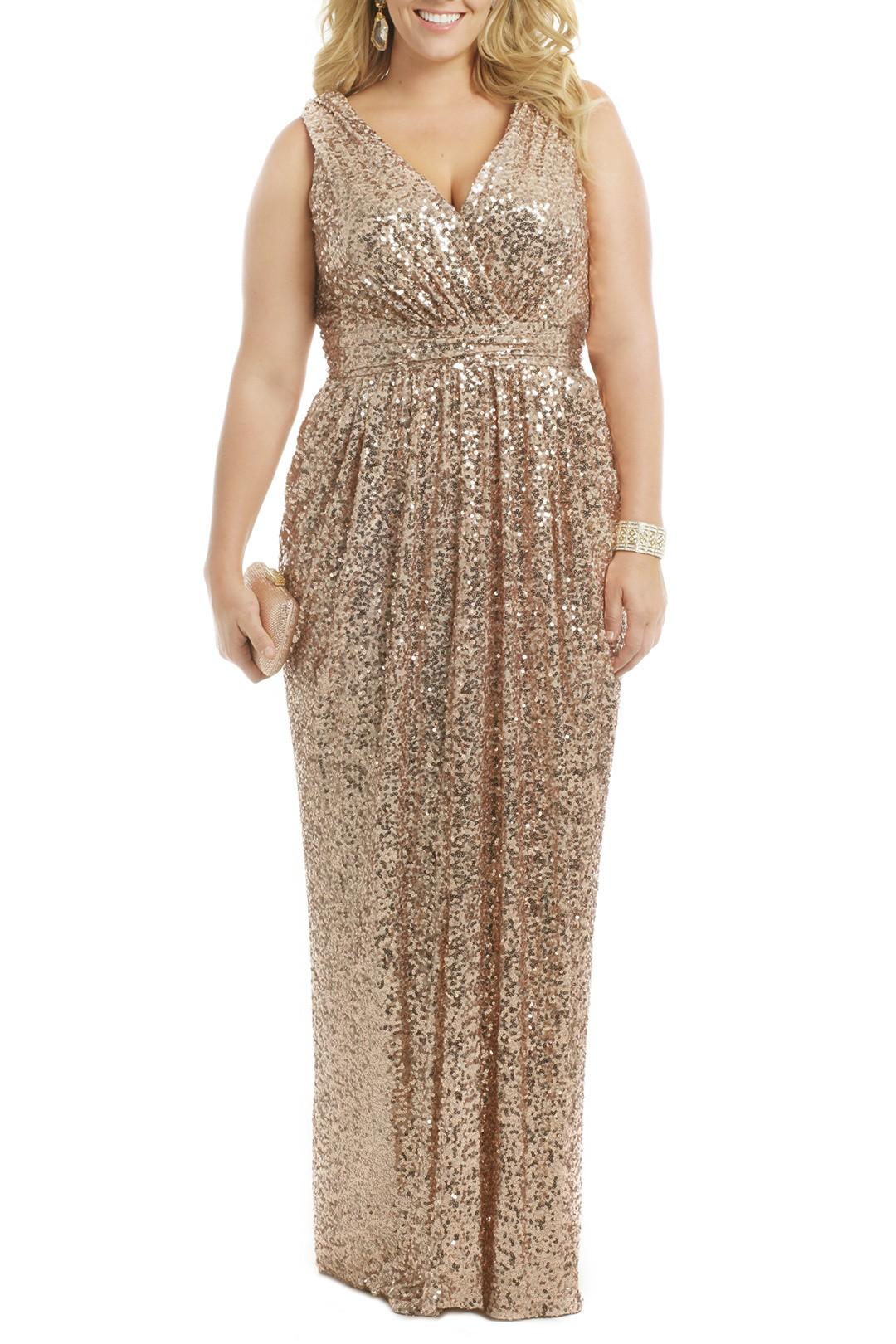 Sequined bridesmaid dress badgley mischka ombrellifo Choice Image