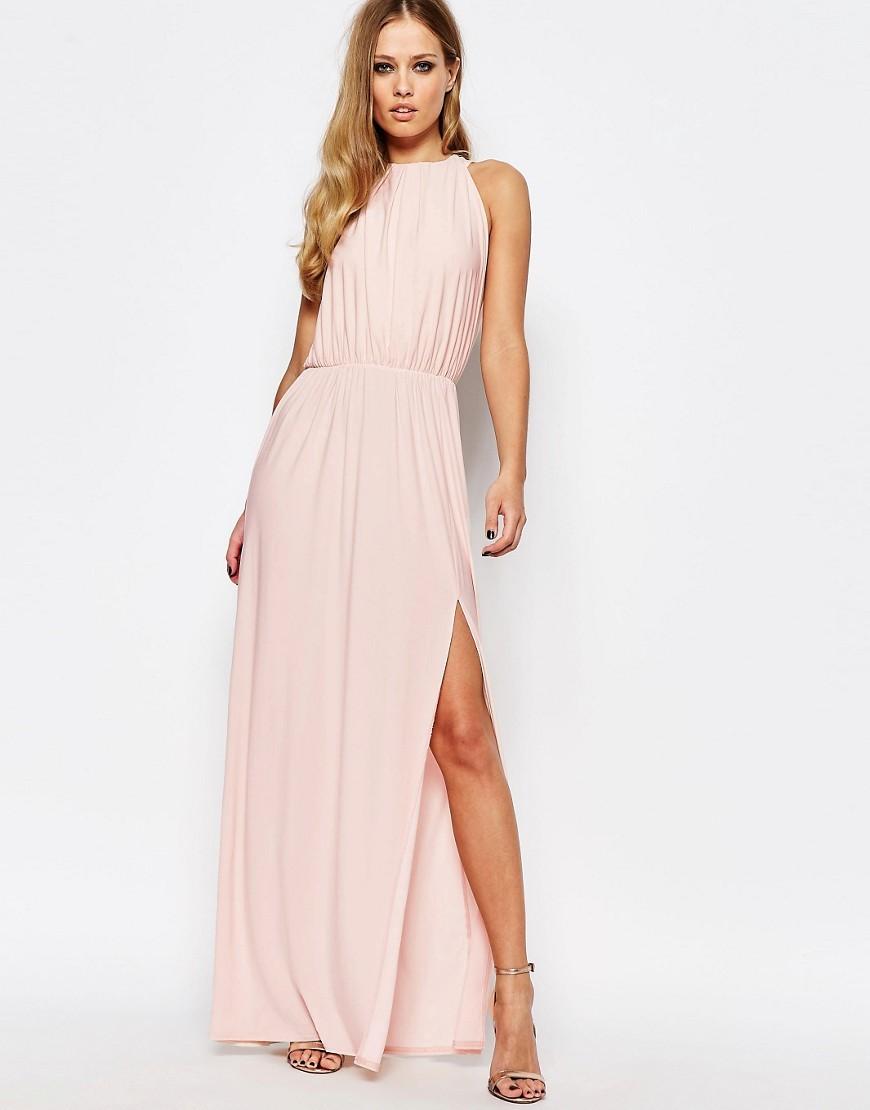 blush dresses for a wedding under long wedding guest dresses Asos