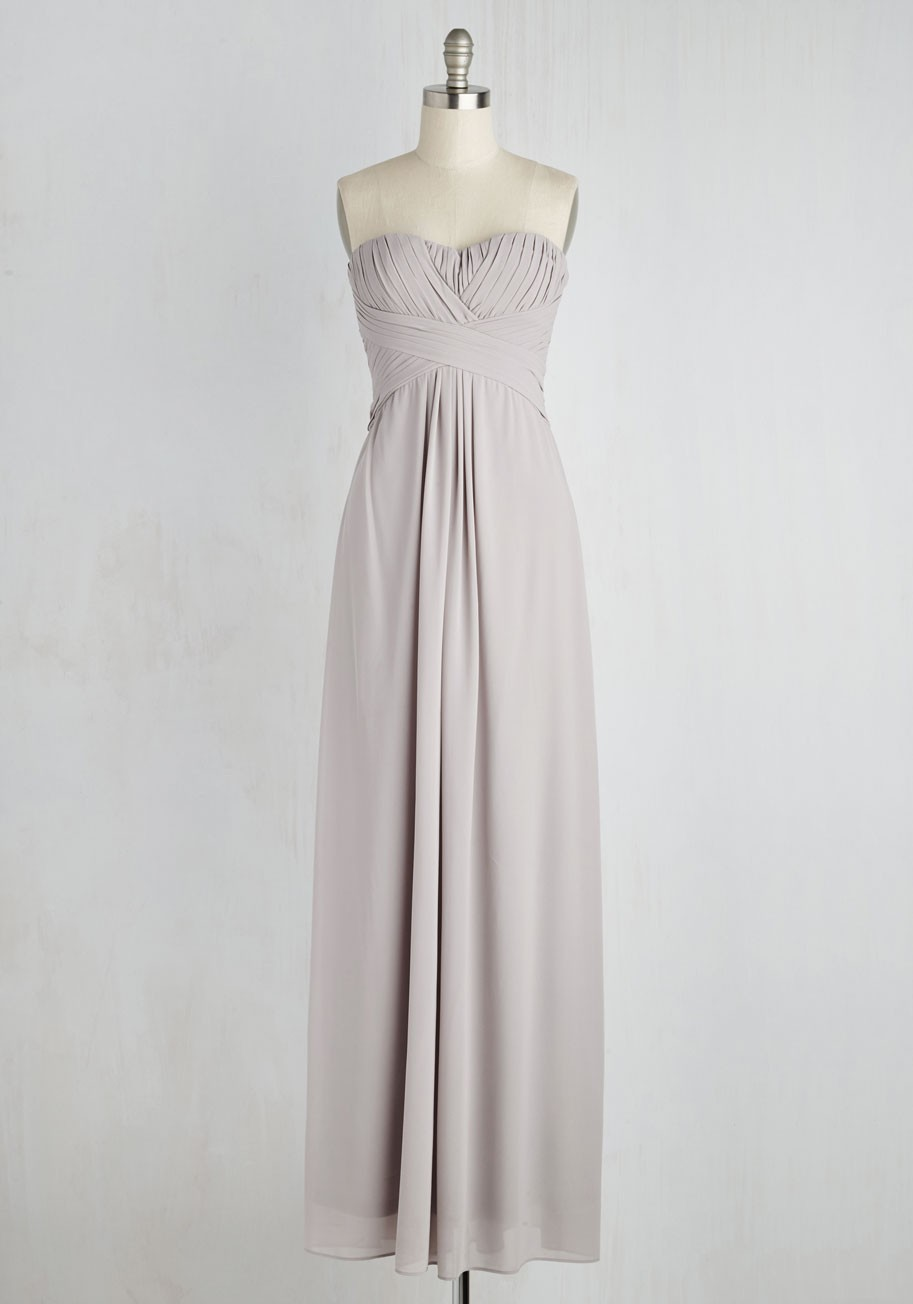 silver or gray dresses gray dresses for wedding Modcloth