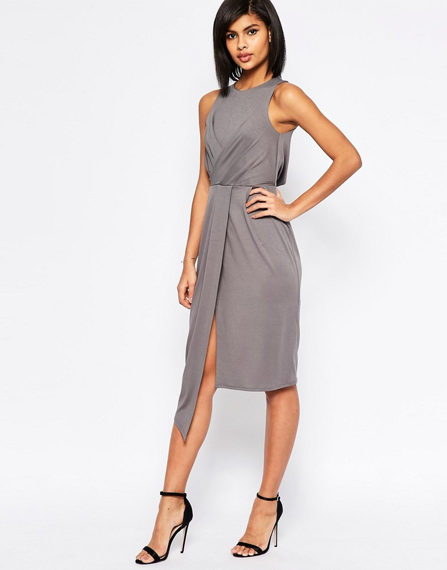 silver or gray dresses dresses wedding guest Asos