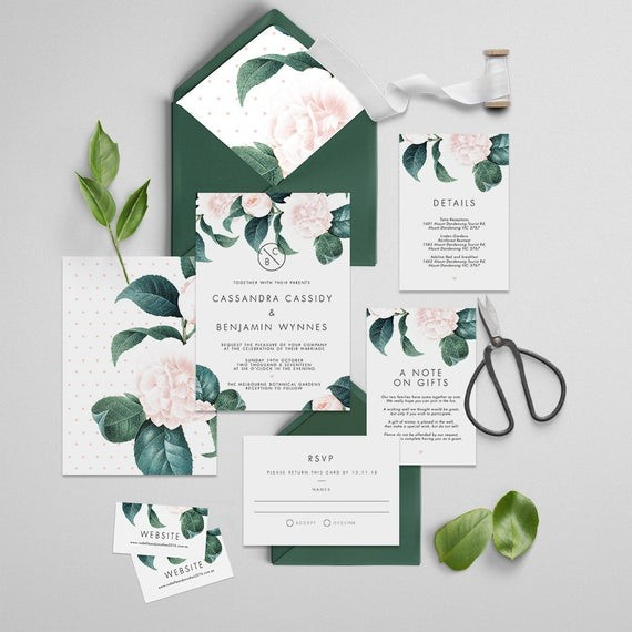 The best in etsy wedding invitation suites junebug weddings etsy us 3378 stopboris Image collections