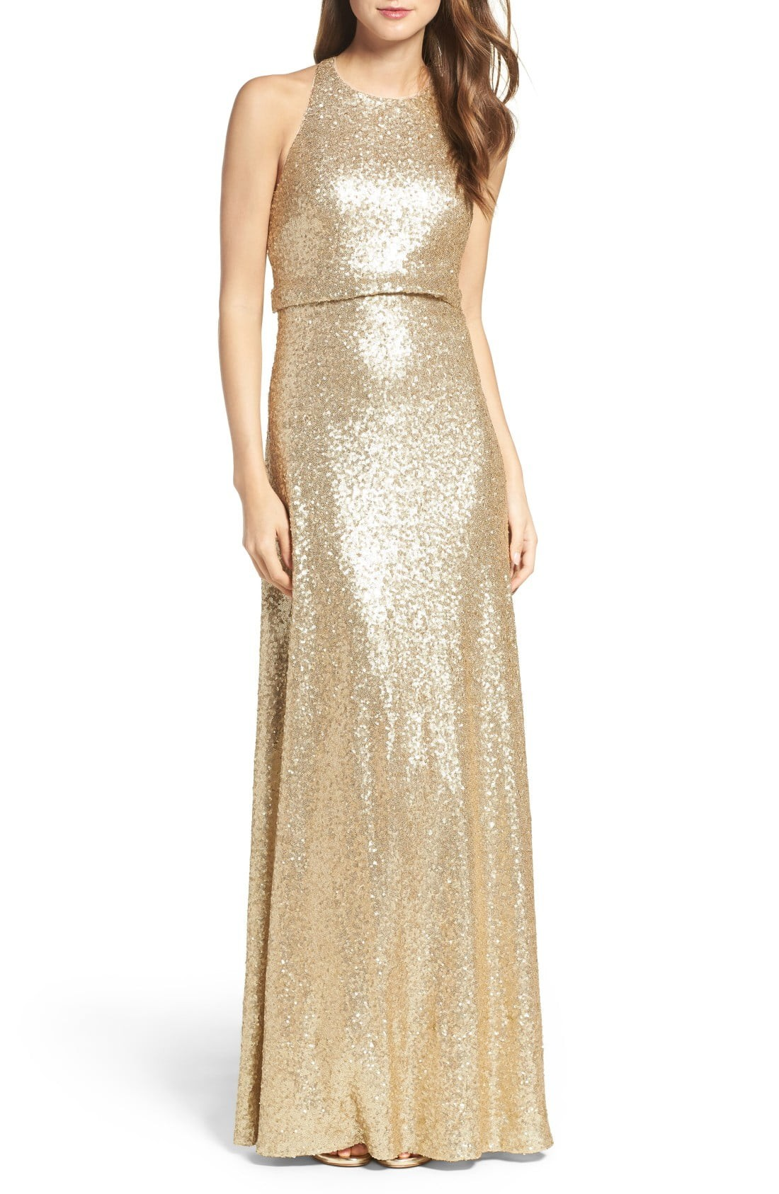 34 glamorous and gorgeous sequin bridesmaids dresses junebug weddings shop gold sequin bridesmaids dresses ombrellifo Choice Image