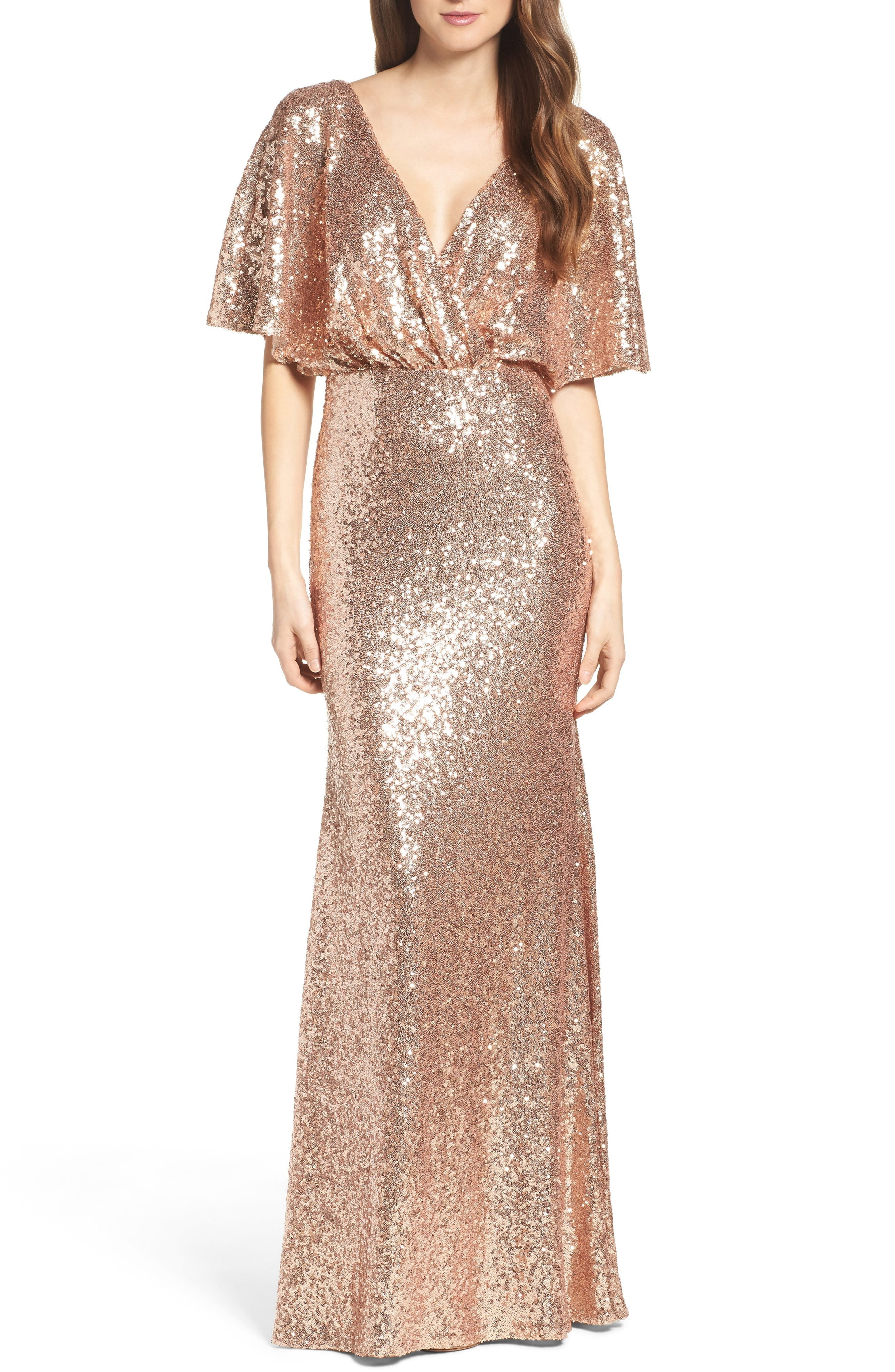 34 glamorous and gorgeous sequin bridesmaids dresses junebug weddings shop rose gold sequin bridesmaids dresses ombrellifo Images