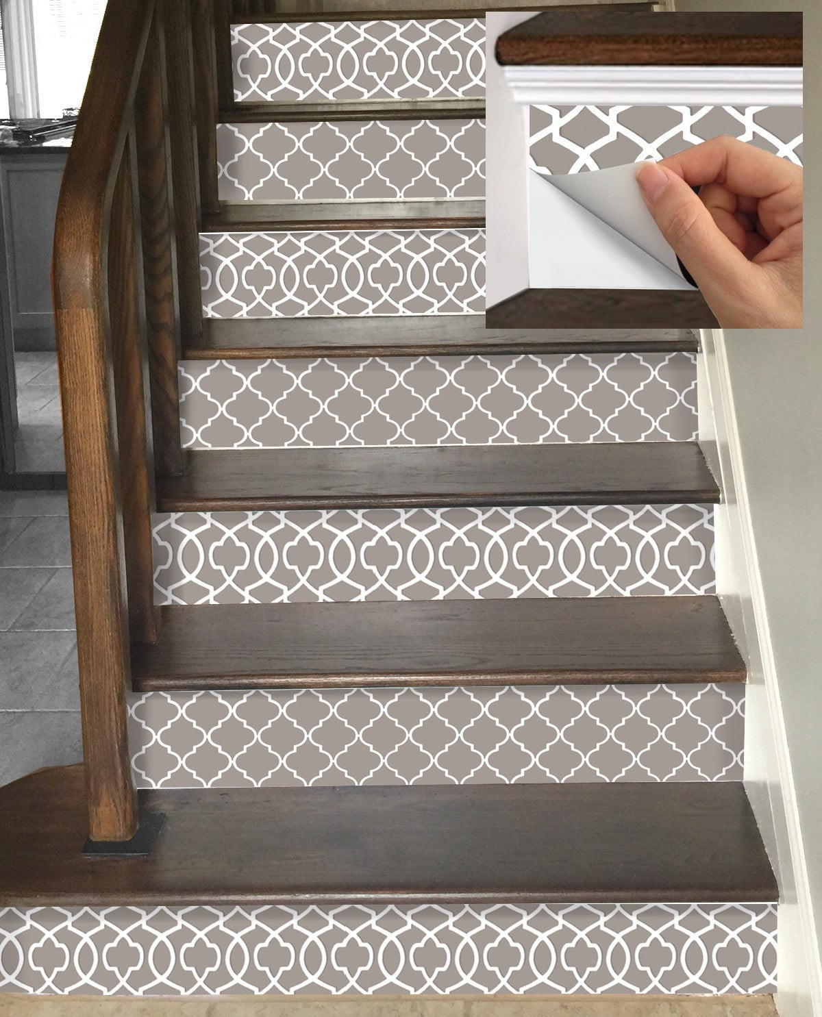 12 Stunning Examples Of Decorative Stair Riser Decals The Flooring