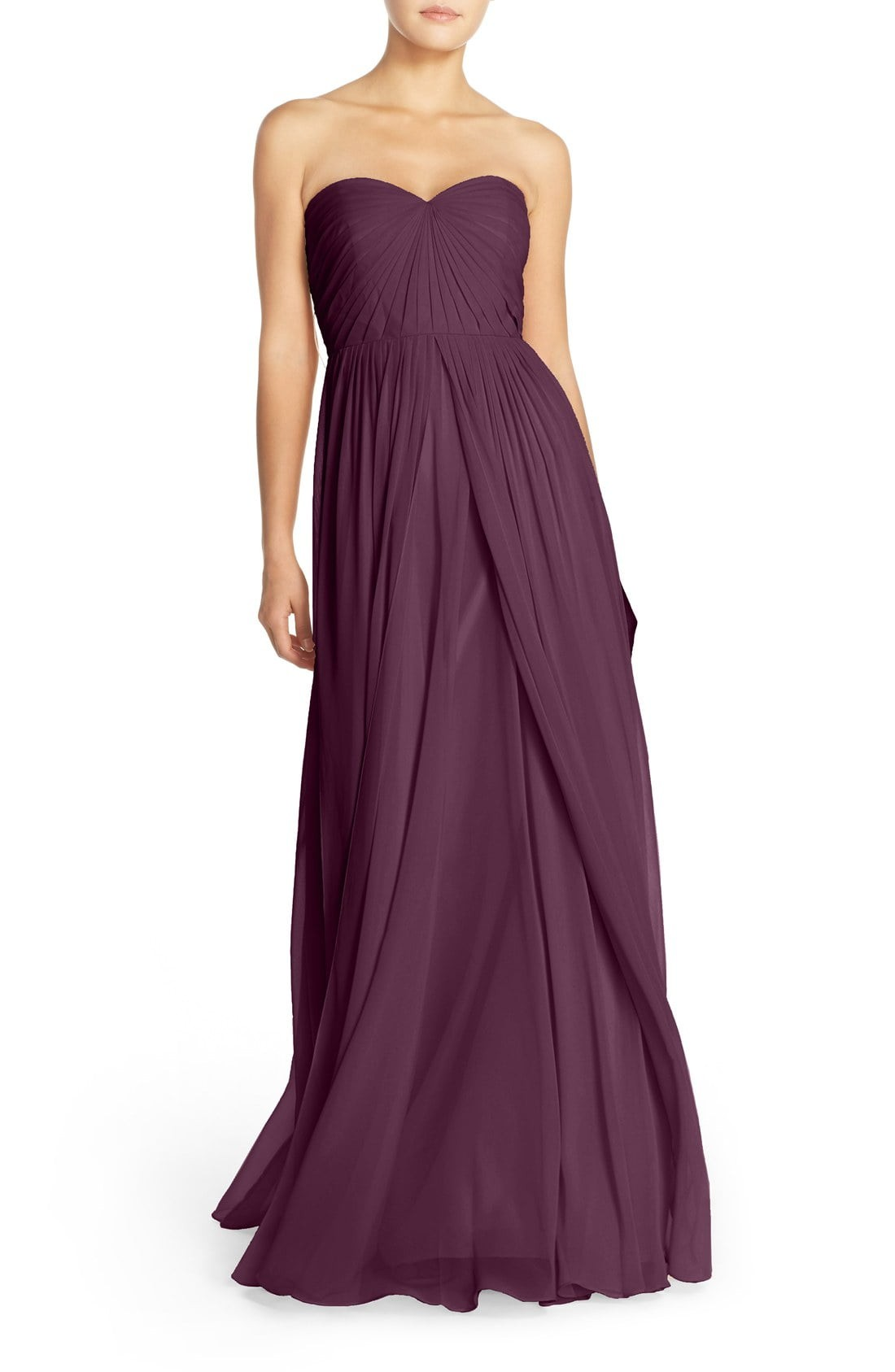 Long wine colored bridesmaid dress dress for the wedding shop the look wine colored bridesmaid dresses ombrellifo Choice Image