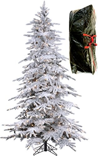 this is my christmas tree 76 bavarian pine 32995 45 star review - Flocked Christmas Tree Walmart