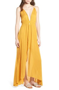 766b78ad14 Tulum Vacation  Yellow Maxi Dress - nohely crystal